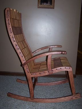 Custom Made Rope And Block Rocking Chair
