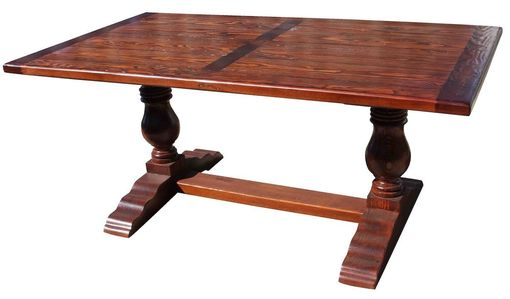 Custom Made Anjelica, Farmhouse Trestle Table