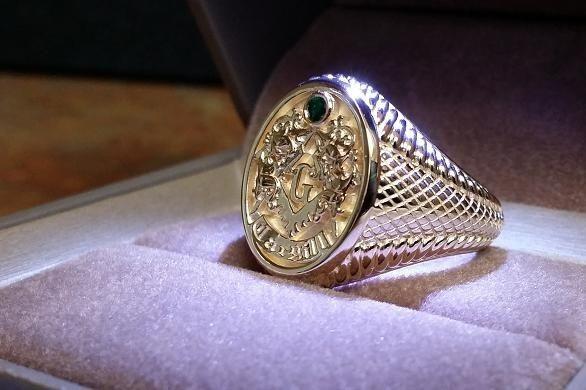 Custom Made Gold Masonic Rings
