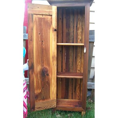 Custom Made Jelly Cupboard Made From Reclaimed Antique Barnwood