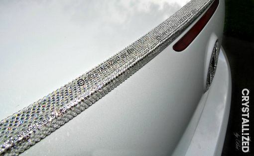 Custom Made Crystallized Custom Car Spoiler Made With Swarovski Crystals