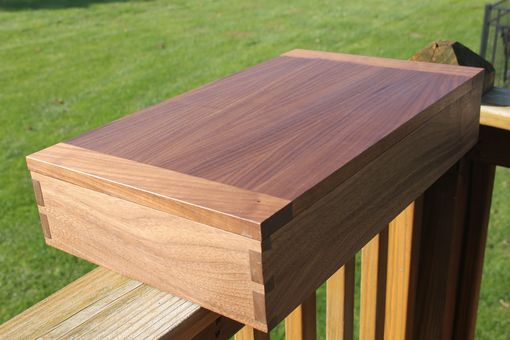 Custom Made Walnut Dovetailed Box