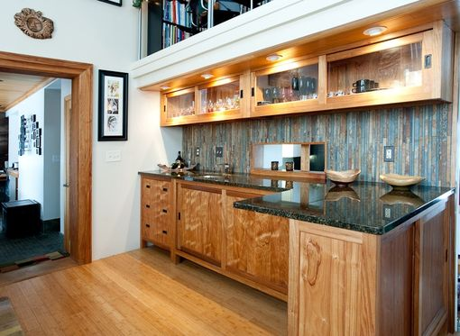 Custom Made Canary Wood Bar