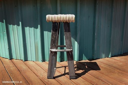 Custom Made Reclaimed Firehose Stool