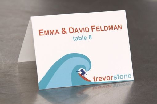 Custom Made Place Cards - Surfer - Escort Cards Custom Designed