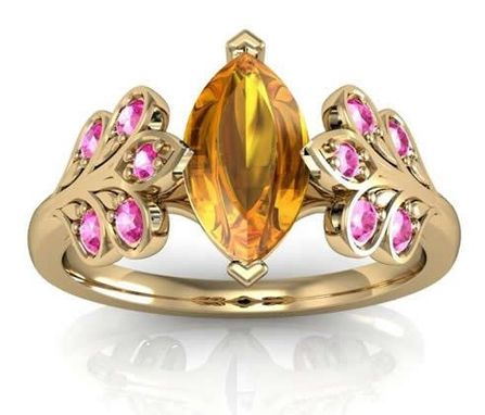 Custom Made Custom Leaf Ring With Imperial Topaz