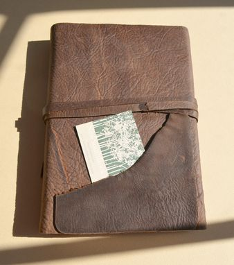 Custom Made Handmade Brown Leather Cowboy Journal Pocket Rodeo Diary Mustang (473)