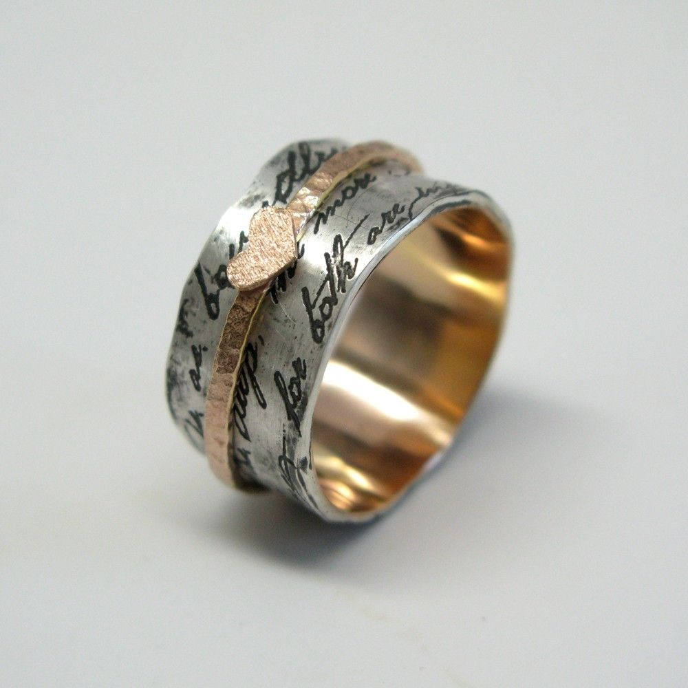 handmade juliet spinner ring by janice jewelry