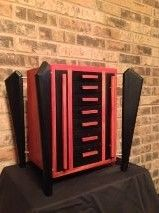 Custom Made Bloodwood And Ebony Jewelry Box For Necklaces