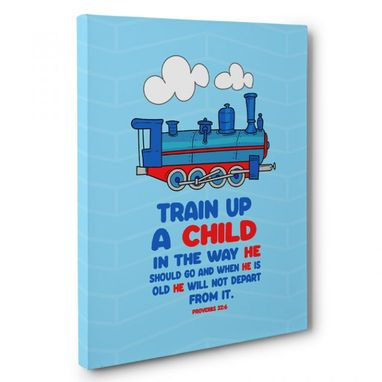 Custom Made Train Up A Child In The Way Canvas Wall Art