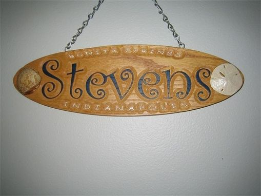 Custom Made Oval Name Sign