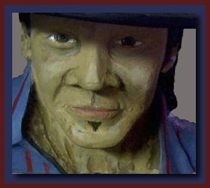 Custom Made Life Size Stevie Ray Vaughn Bust