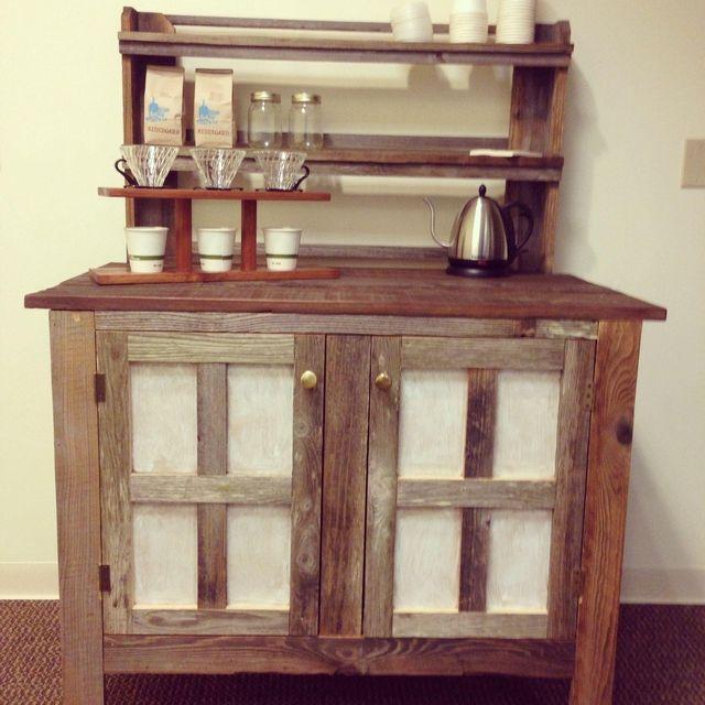 Custom Made Reclaimed Wood Coffee Bar By Urban Mining Company