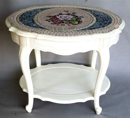 Custom Made Shabby Chic Mosaic Table