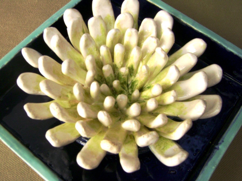 Hand Made Mum Flower Ceramic Shadow Box Wall Decor by Robin Chlad ...