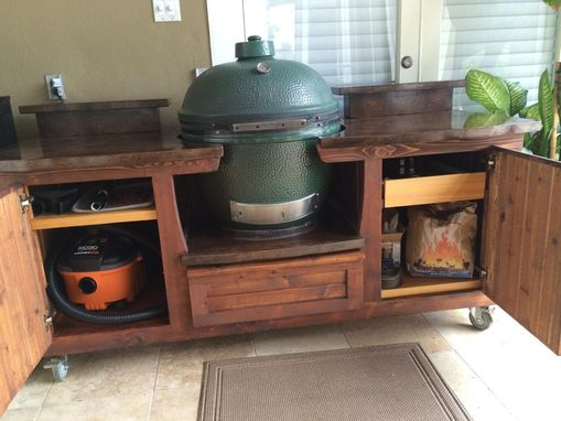 Custom Made Morgan Collection Big Green Egg Table By Big