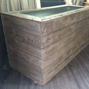 Custom Made Barnboard Trough Bar