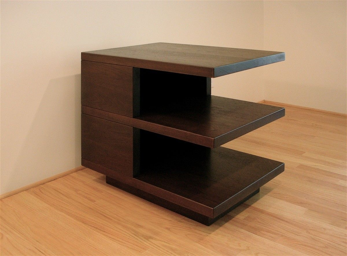 Hand made modern side table by hefner woodworking sorkin Modern side table