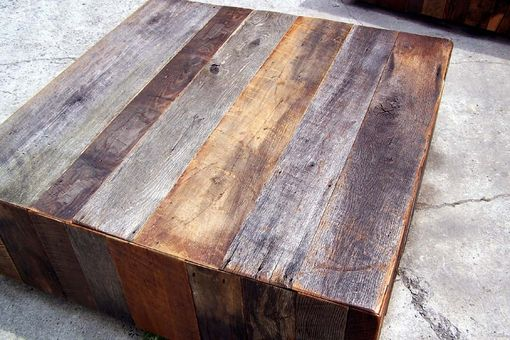 Custom Made Rustic Chic Lobby Cubes From Reclaimed Barn Wood