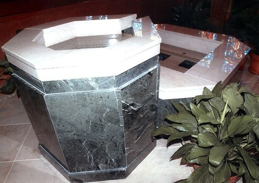 Custom Made Marble Baptismals