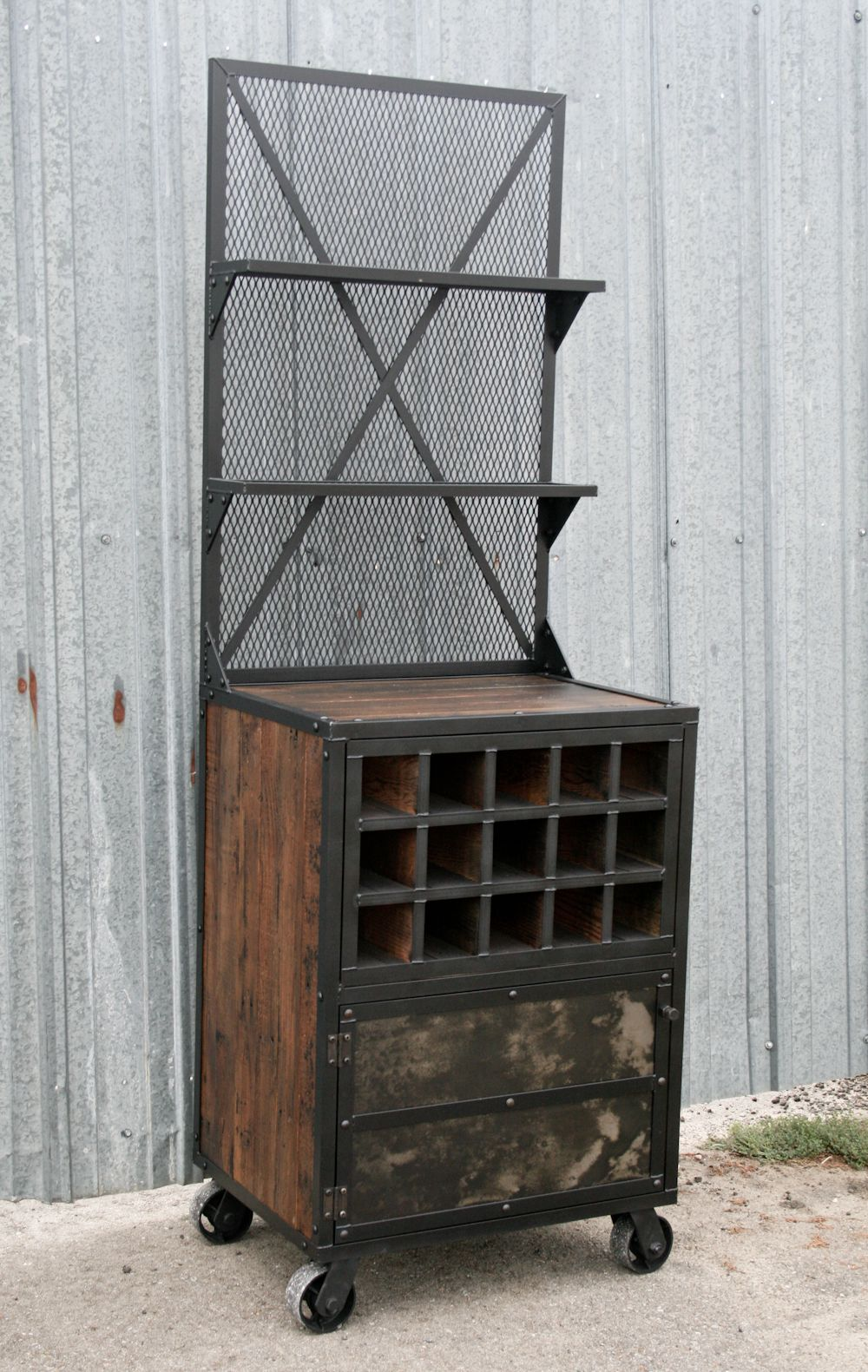Vintage Industrial Bar Cart Novocom Top