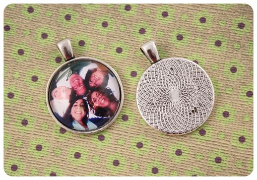 Custom Made Custom Photo Necklace Antique Silver Circle 1 Inch / 25 Mm Pendant Personalized Gift
