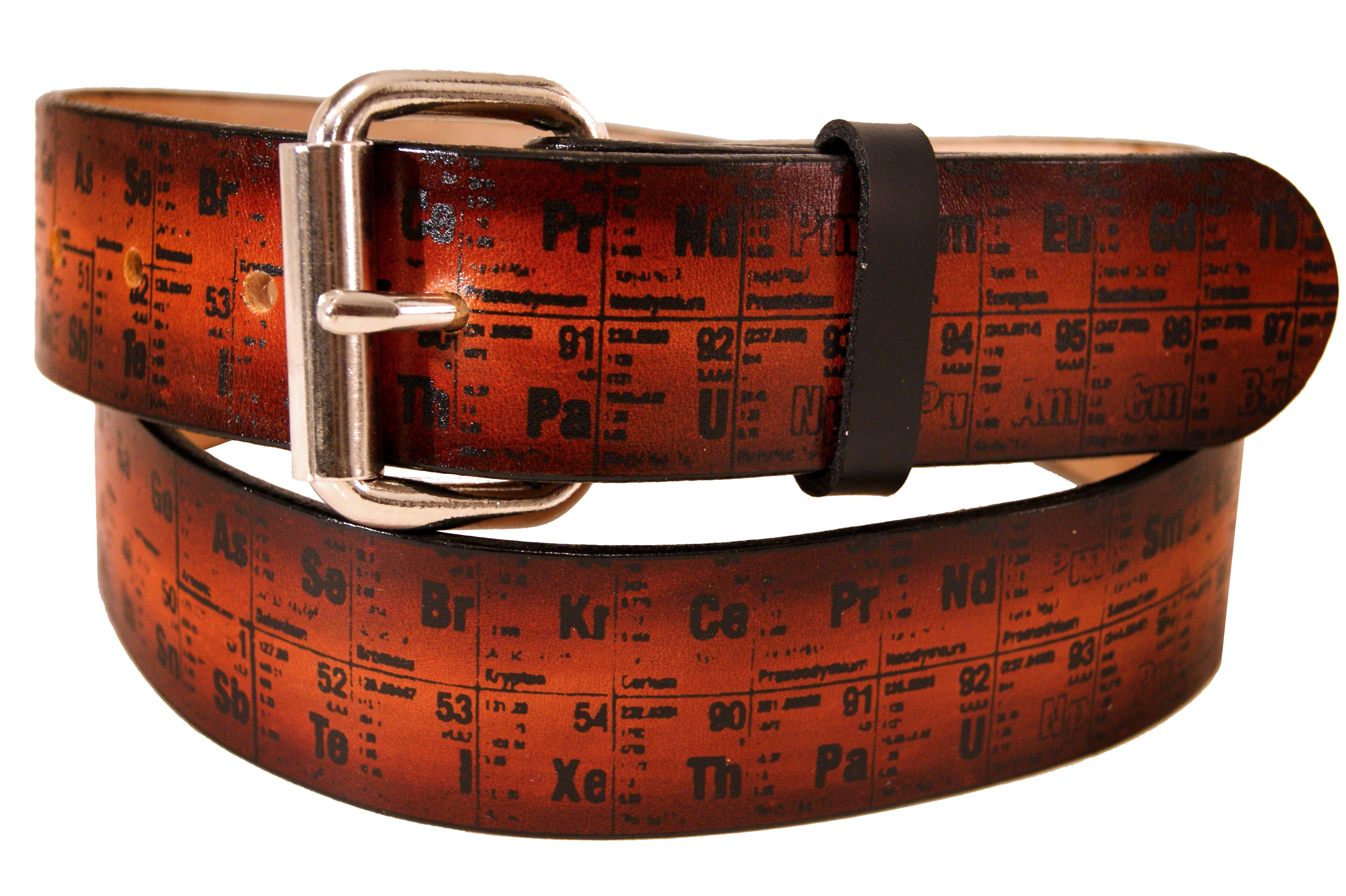 Buy a hand crafted periodic table of elements leather belt made buy a hand crafted periodic table of elements leather belt made to order from project transaction custommade gamestrikefo Gallery
