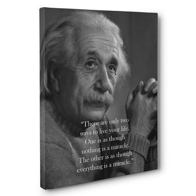 Custom Made Albert Einstein Live Your Life Quote Canvas Wall Art