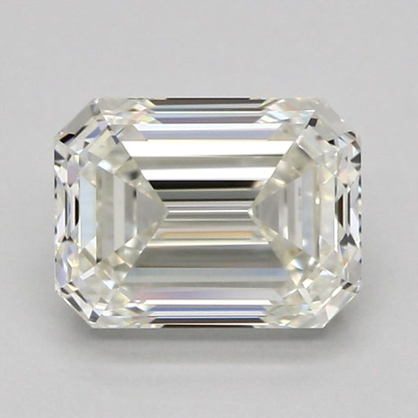 Emerald cut — average at hiding color tint.