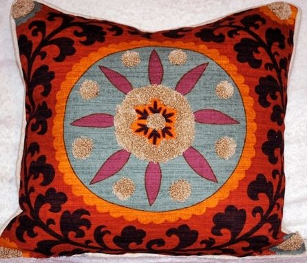 Custom Made Suzani Accent Pillow