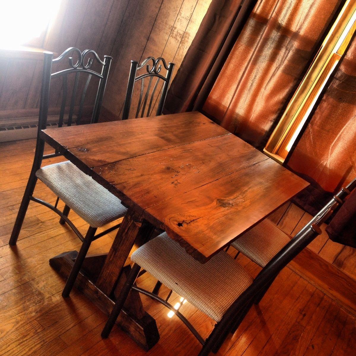 handmade 4 person walnut harvest dining tabledeer