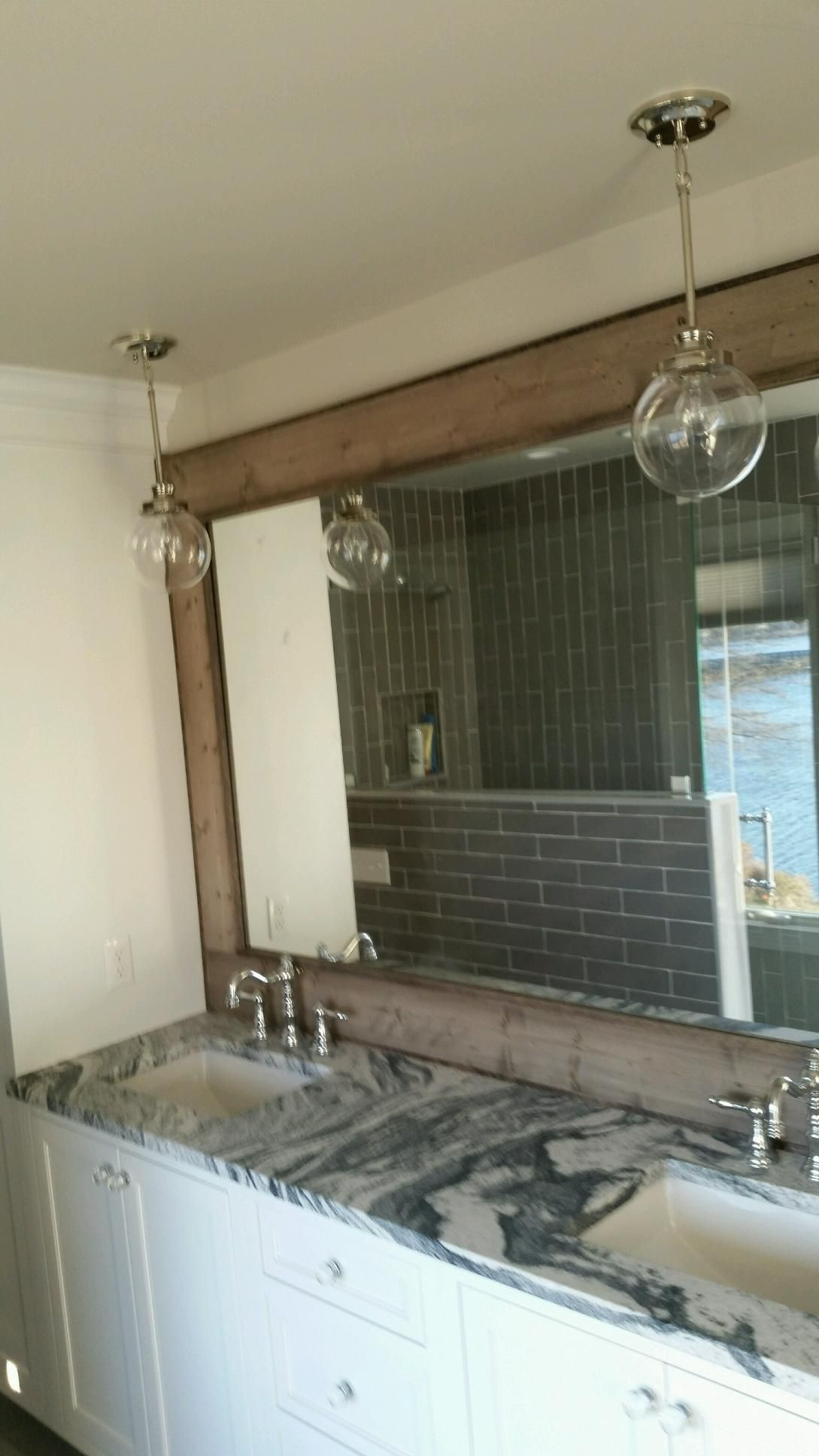 Custom Made Large Vanity Mirror, Reclaimed Wood Mirror