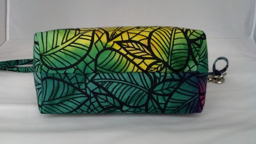 Custom Made Blue Tropical Print Bag