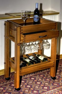 Custom Made Wine Servingcart