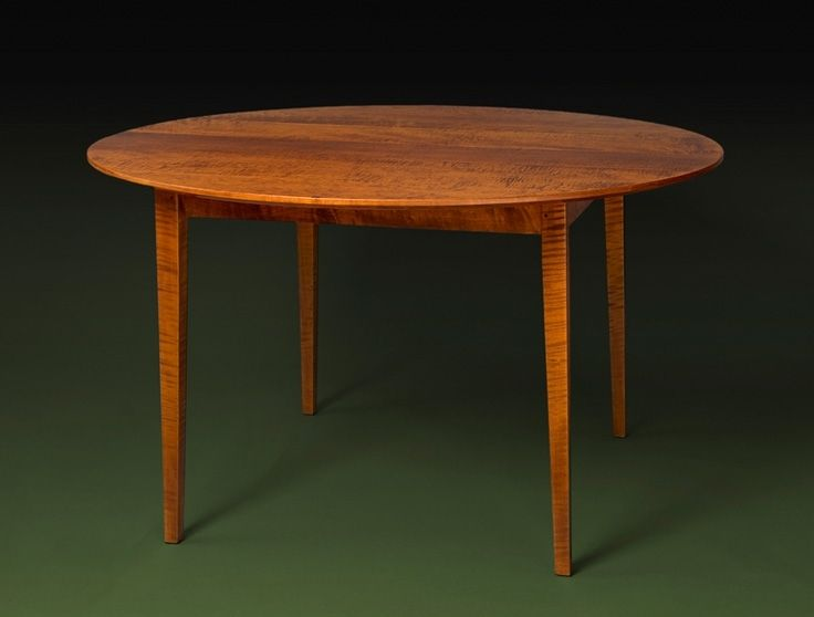 Custom Made Curly Maple Round Extension Table