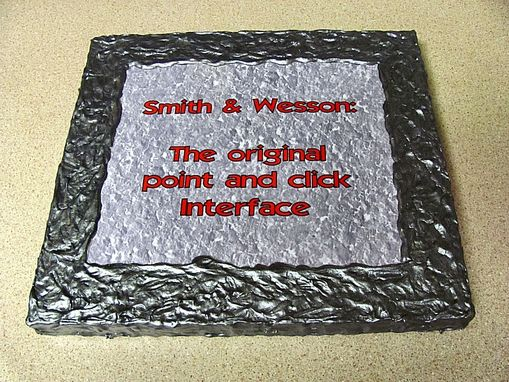 Custom Made Wall Plaque Art - Smith & Wesson
