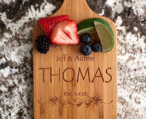 Custom Made Personalized Handled Bamboo Serving Boards