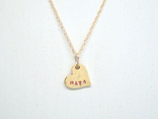 Custom Made Hearts Name Necklace