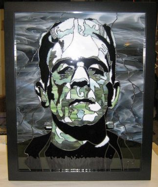 Custom Made Frankenstein's Monster Stained Glass