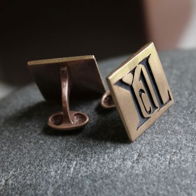 Custom Made Initial Cufflinks