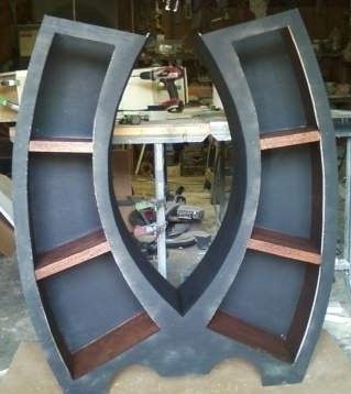 Custom Made Symmetry, Handmade 4ft Bookcase