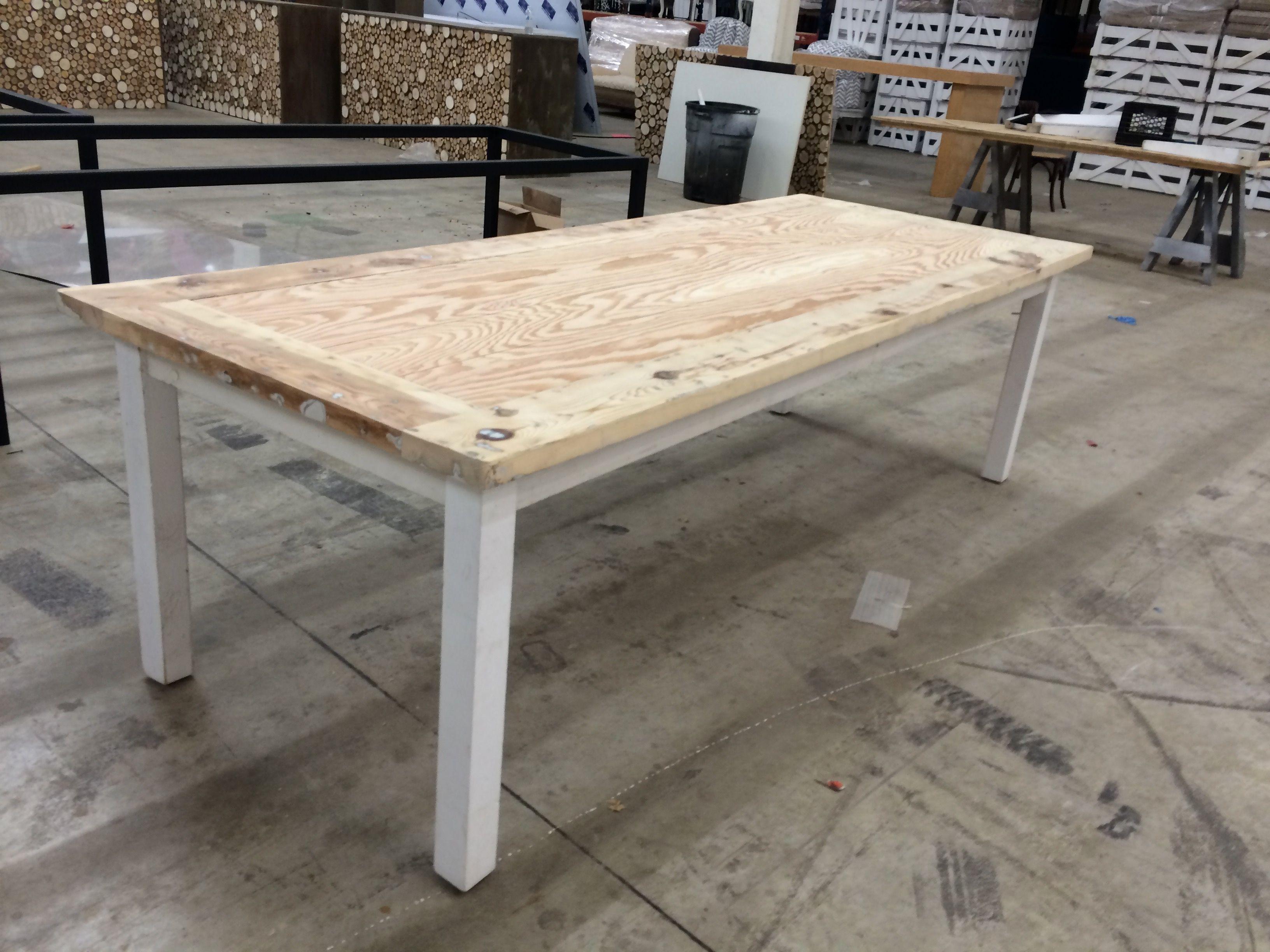 Surprising Custom Unfinished Farmhouse Table By Construct Custommade Com Interior Design Ideas Skatsoteloinfo