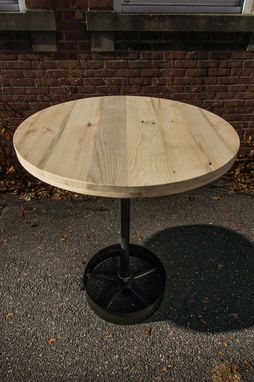 Custom Made Reclaimed Wood Round Pub Tables