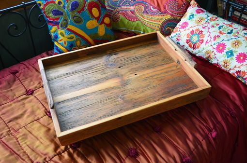 Custom Made Breakfast Tray Made From Rustic Reclaimed Wood