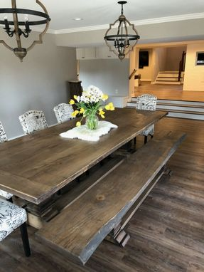 Custom Made Ash Pedestal Dining Table