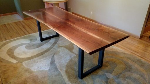 Custom Made Walnut Live Edge Dining Table