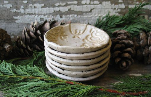 Custom Made Pottery Prep Bowl - Vanilla Bean - Tea Bag Holder- Wedding Favor - Candle Holder - Ring Dish