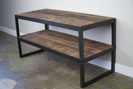 Steel Tv Stand Designs : Buy a hand made industrial tv stand reclaimed wood