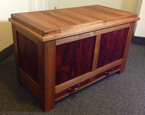 Custom Made Mahogany Blanket Chest
