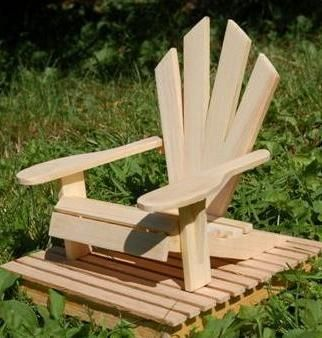 Custom Made Six Inch Adirondack Chair With Deck